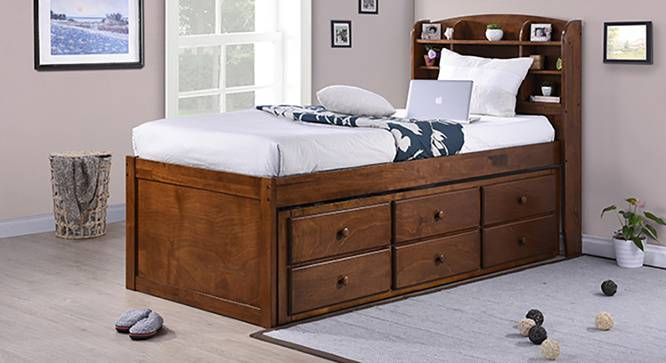 online retailer 7bbf9 235c8 Inclusive Storage Headboard Single Bed With Trundle And Storage