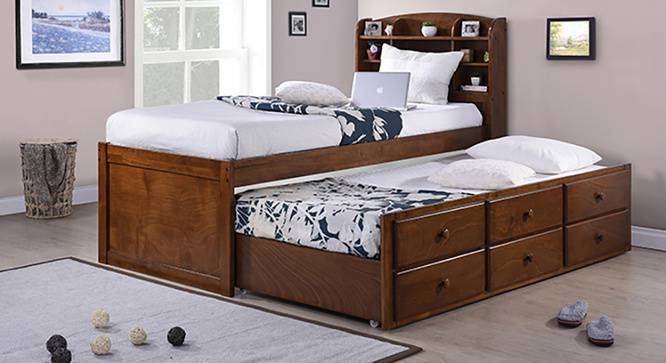 Inclusive Storage Headboard Single Bed With Trundle And